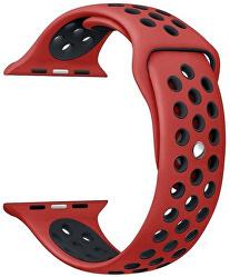 Silikonový řemínek pro Apple Watch - Červená/Černá 42/44 mm
