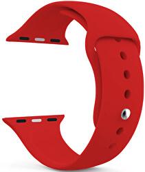 Szilikon szíj Apple Watch - Piros 42/44 mm - S/M