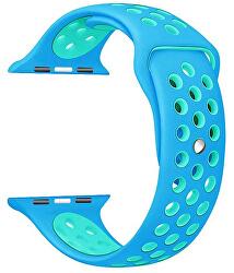 Silikonový řemínek pro Apple Watch - Modrá/Tyrkysová 42/44 mm