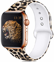 Szilikon szíj Apple Watch -Leopárd 38/40 mm