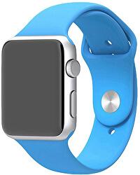Silikonový řemínek pro Apple Watch - Světle modrý 42/44 mm - S/M