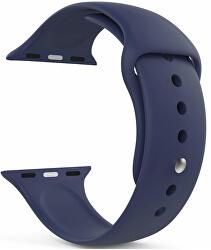 Silikonový řemínek pro Apple Watch - Tmavě modrý 38/40 mm - S/M