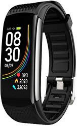 Fitness tracker con termometro WT10B - Black