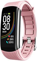 Fitness náramek s teploměrem WT14P - Pink
