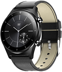 Smartwatch W41BL - Black Leather