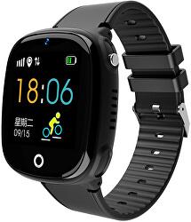 Dětské Smartwatch HW11 s GPS a fotoaparátem - Black - SLEVA II
