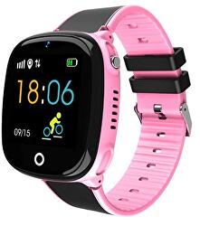 Dětské Smartwatch W11P s GPS a fotoaparátem - Pink - SLEVA
