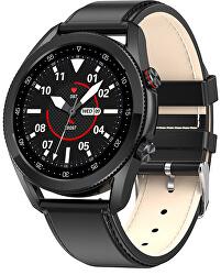 Smartwatch W21B - Black Leather