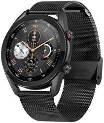 Smartwatch W23B - Black Stainless Steel
