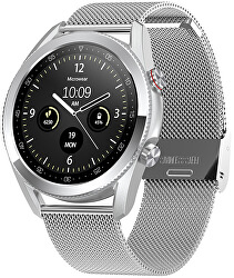 Smartwatch W24S - Silver Stainless Steel