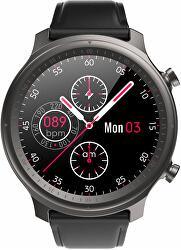 Smartwatch W30BL - Black Leather