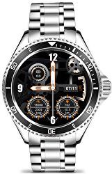Smartwatch W69SBK - Silver+Black