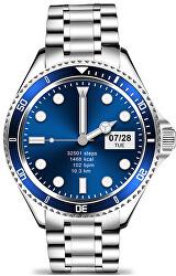 Smartwatch W69SBE - Silver+Blue