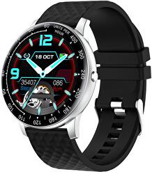 W03S Smartwatch - Silver Black