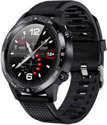 W12B Smartwatch - Black Silicone - SLEVA