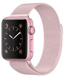 Ocelový milánský tah pro Apple Watch - Růžová 42/44 mm