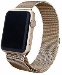Ocelový milánský tah pro Apple Watch - Zlatý tmavý 38/40 mm