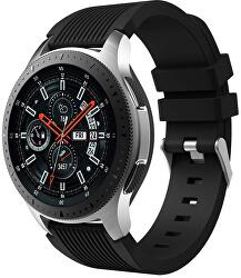 Silikonový řemínek pro Samsung Galaxy Watch - Černý 20 mm