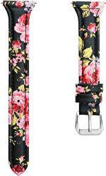 Slim kožený řemínek pro Samsung Galaxy Watch - Flower 20 mm
