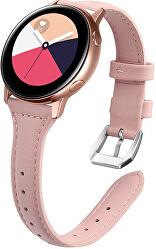 Slim kožený řemínek pro Samsung Galaxy Watch - Pink 20 mm
