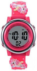 Dětské digitální hodinky s jednorožci - zářivě růžová