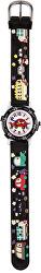 Dětské hodinky s motivem aut - černé