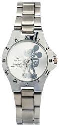 Dětské hodinky s motivem Mickey Mouse - stříbrná - SLEVA