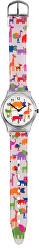 Dětské hodinky s motivem zvířat - bílá