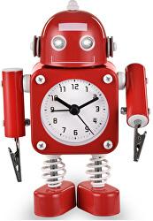 Dětské hodiny Robot - červené