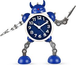 Dětské hodiny Robot s meči - modré