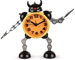 Dětské hodiny Robot s meči - žluté