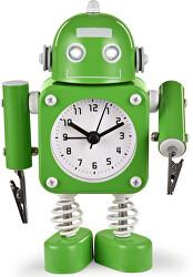 Dětské hodiny Robot - zelené