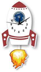 Nástěnné dřevěné hodiny - Raketa