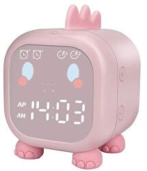 Stolní digitální hodiny - Růžový Dinosaurus