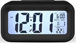 Stolní digitální hodiny s budíkem - černé