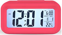 Stolní digitální hodiny s budíkem - červené