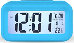 Stolní digitální hodiny s budíkem - modré