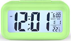 Stolní digitální hodiny s budíkem - zelené