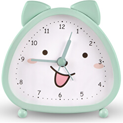 Stolní hodiny s motivem kočičky