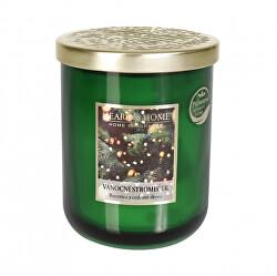 Vonná svíčka velká se zlatým víčkem Vánoční stromeček 340 g