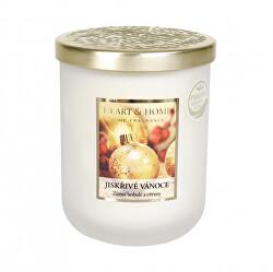 Vonná svíčka velká se zlatým víčkem Jiskřivé Vánoce 340 g