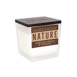 Sviečka malá NATURE Ružové drevo & vanilka 90 g