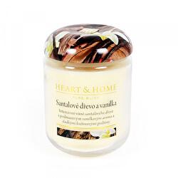 Vonná svíčka velká Santalové dřevo a vanilka 340 g