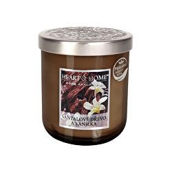 Vonná svíčka střední Santalové dřevo a vanilka 115 g