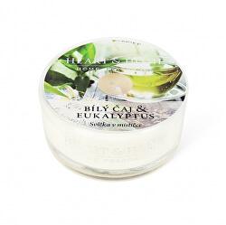 Vonná svíčka v mističce Bílý čaj & eukalyptus 38 g