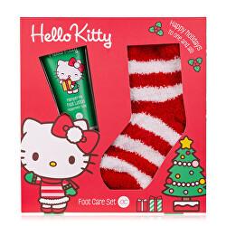 Set cadou pentru îngrijirea picioarelor cu șosete Hello Kitty