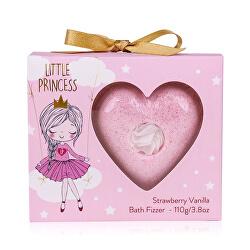 Šumivá bomba do koupele Little Princess Strawberry Vanilla (Bath Fizzer) 110 g