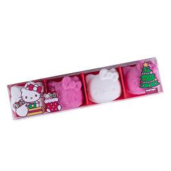 Šumivá bomba Hello Kitty (Bath Fizzer) 4 x 30 g