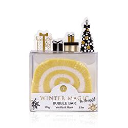 Šumivá bomba do koupele vanilka a pižmo Winter Magic (Bubble Bar) 100 g