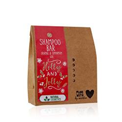 Tuhý šampon pomeranč a skořice Holly & Jolly (Shampoo Bar) 60 g